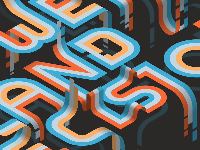 Power and Precision (close-up) affinitydesigner affinity isometric vector lettering typography