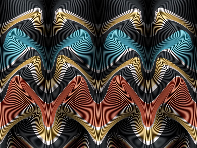 Novelty Waves 5 - 04a pattern lineart moire lines illustration illustrator adobe vector abstract