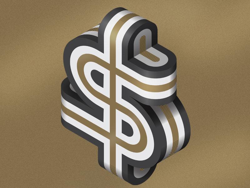 Dollar magazine editorial typography