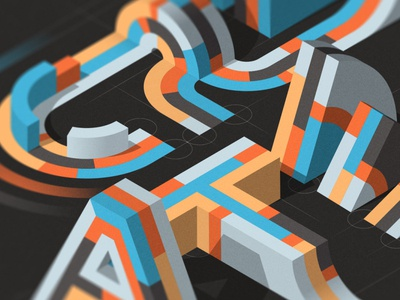 CREATE design isometric illustration illustrator adobe vector lettering typography