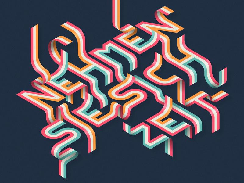'Nehmen Sie Sich Zeit' / 'Take Your Time' isometric illustration illustrator adobe vector lettering typography