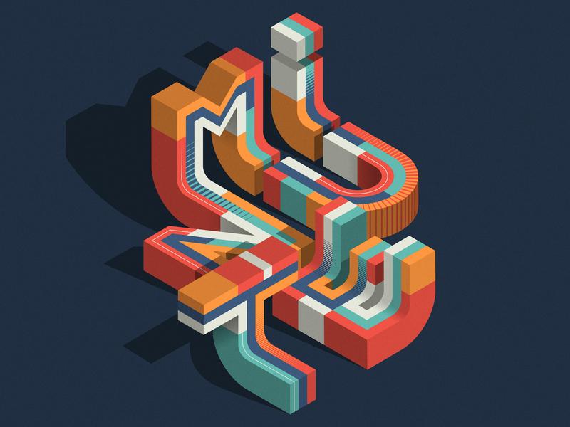 MINUTE design editorial isometric illustration illustrator adobe vector lettering typography