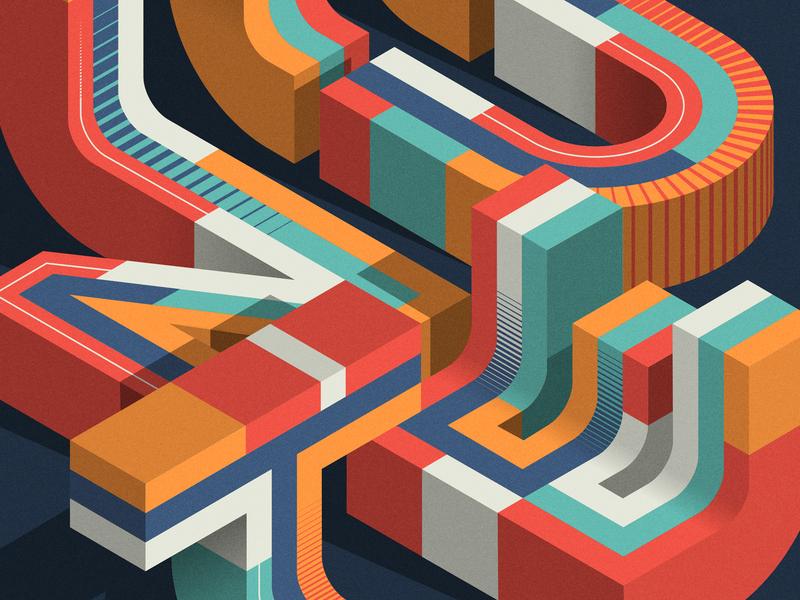 MINUTE (close-up) design editorial isometric illustration illustrator adobe vector lettering typography