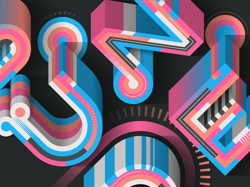 """Stunde"" (close-up) magazine editorial illustration illustrator adobe vector lettering typography"