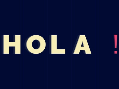 Hola blend modes first shot hola type typography