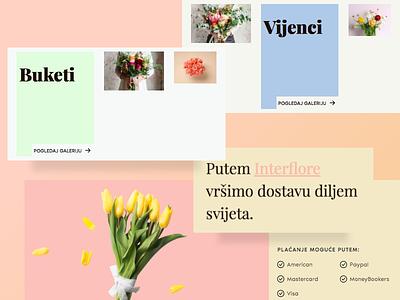 Local florist playful ui web typography layout colorful simple flower-shop florist