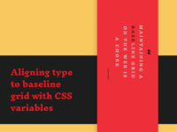 Aligning type to baseline grid with CSS variables