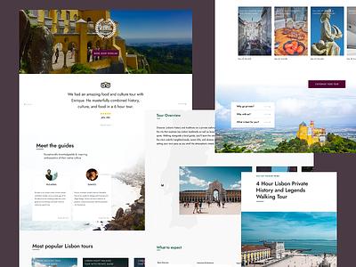 Lisbon Private Tours tours typography lisbon simple jost clean web design