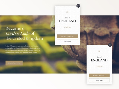 Lordship Titles heraldry calluna sans roxborough cf sketch medieval vintage typography web design