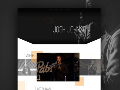 Josh Johnson ui branding debut comedy design web design web