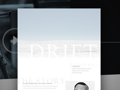 Drift Chamber Opera Pitch website music ui web design web
