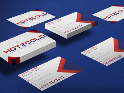 Hot2Cold Business Cards logo identity branding business card