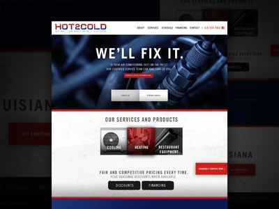Hot2Cold Website prototype web logo branding ux ui website