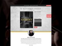 Violin Harmony Landing Page