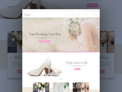 You wedding ux ui web web design