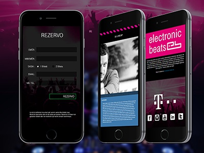 Electronic Beats Event Website  ui ux wordpress webdesign responsive