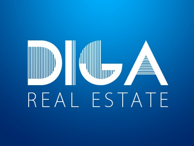 Real Estate Logo DIGA, a DAM Logo flat estate real wordpress webdesign design logo