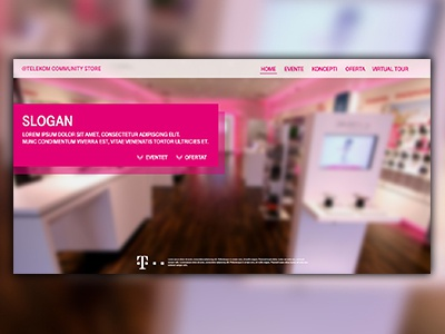 Store Web Concept photoshop tmobile webdesign