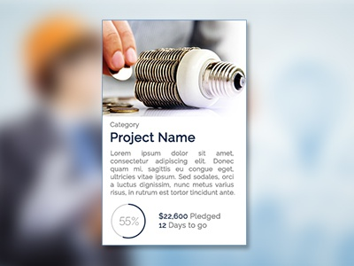 Crowdfunding Project  module project photoshop webdesign ui ux crowdfunding