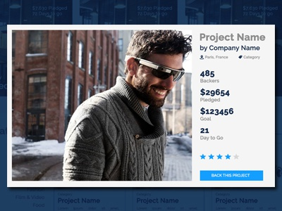 Crowdfunding Project  project module crowdfunding ux ui photoshop webdesign
