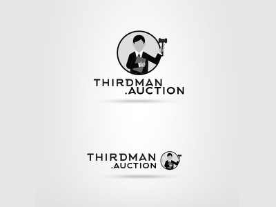 Auction Company Logo illustration logo