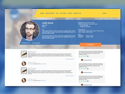 E-learning Platform website webdesign flat ux ui photoshop design button