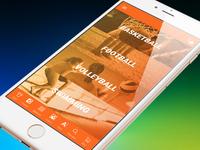 Mobile e-commerce sport shop.