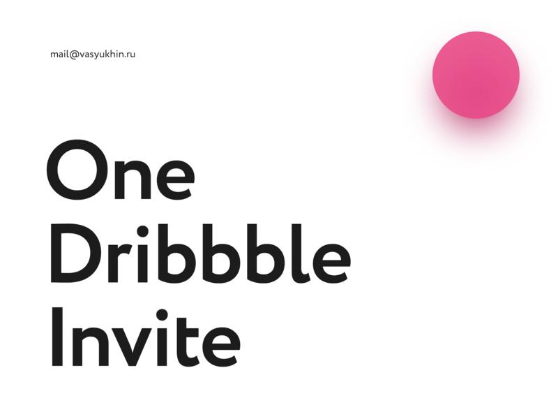 One Dribbble Invite draft designer web player debut minimalism minimal poster typogaphy invitation giveaway invite dribbble
