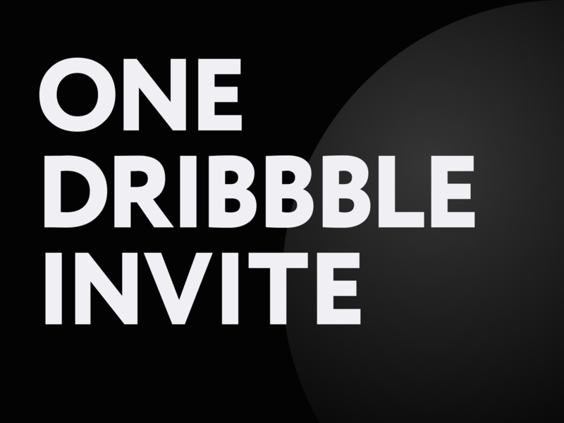 One Dribbble Invite web poster typogaphy prospect players giveaway dribbble invite draft debut invite