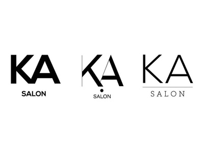 KA Salon Rebrand hairdo identity lifestyle fashion stylist branding
