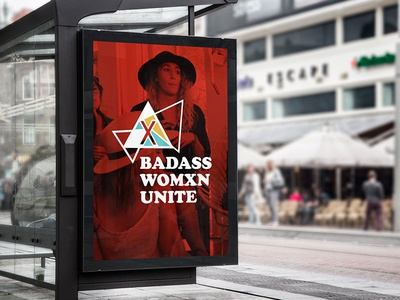 Badass Womxn Unite Poster  identitysystems printdesign nonprofit forwomen womenmarch branding logodesign