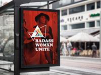 Badass Womxn Unite Poster