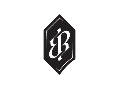 RB ambigram wine rudy billy ambigram monogram white black letter r b mark badge