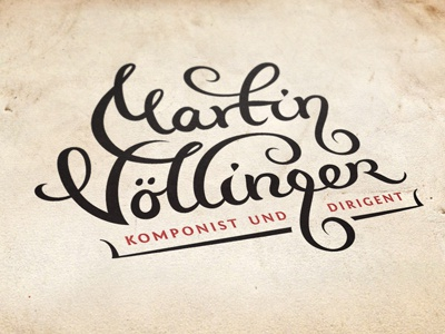 Martin Vollinger composer conductor music violin key g type typography typographic jazz salsa classic