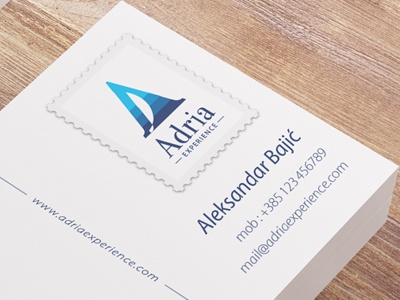 Adria Experience, business cards 04 sailing sailboat boat sea adriatic business card creative postcard post stamp mark