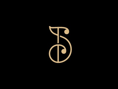 JS monogram j s monogram line continuity path journey spiral subtle whale type typography