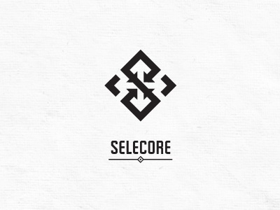 Selecore V2 selecore selected core import export negative space negative space black white modern strong cross arrow arrows s finland finnish inside outside pointing logo