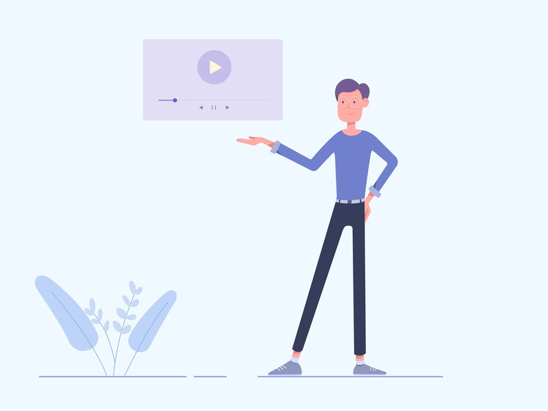 Presentation video animation ad video animation character cartoon character web vector flat illustration cartoon design