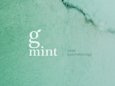 g.mint minimal wise cosmetology wise leaf cosmetology identity green logodesign g g logo mint