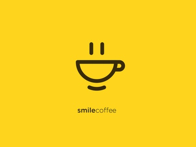 Smile coffee coffee cup cup yellow happy logodesign smile coffee smile coffee