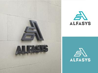 ALFASYS facade system brand concept logo