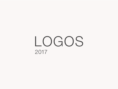 Logos 2017 concept brand collection year 2017 letting branding logo