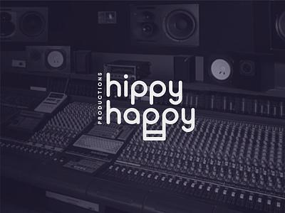 Hippy Happy studio note music logo idea hippy happy concept branding brand