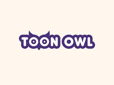 Toon Owl eye idea cute owl concept logo cartoon