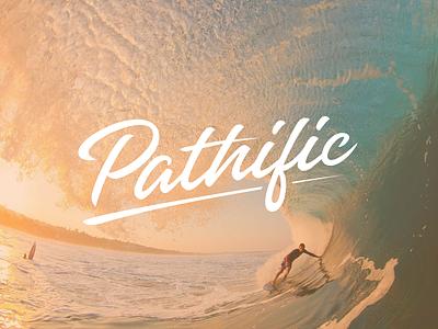 Pathific Logo summer lettering surf design logo pacific pathific