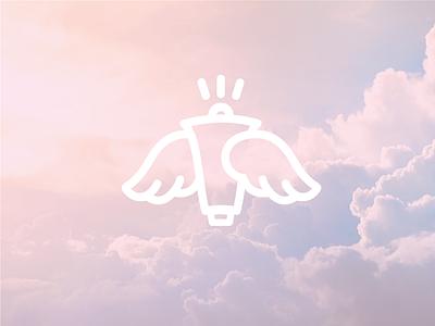 Angels Media horn wings info media logo sign angel
