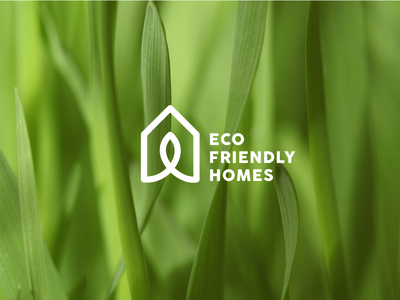 Eco Friendly House waste zero nature leaf green logo home friendly eco