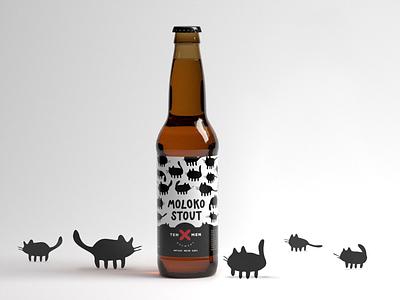Ten Men Branding stout moloko milk cat logos craft identity branding beer