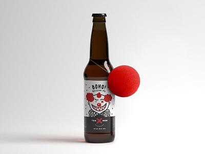 It) brewery craft smile joke ten men identity logo clown it beer