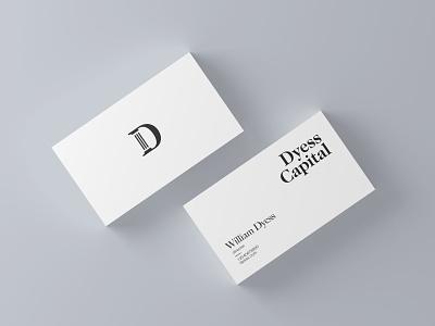 Dyess Capital business card d logo negativespace capital design column logo